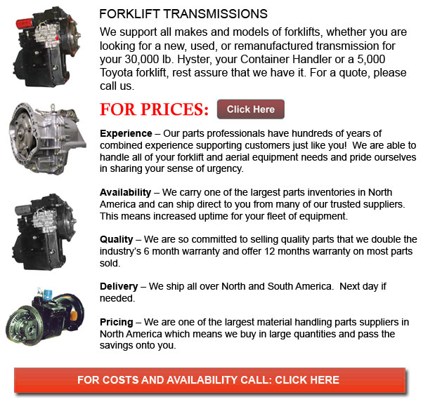 Forklift Transmission Parts : Transmissions for forklift